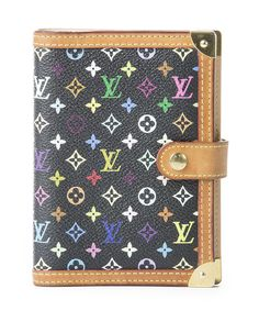 Second Hand. Louis Vuitton Agenda, Used Louis Vuitton, Louis Vuitton Monogram, Louis Vuitton Multicolor, Day Planners, Rind, Monogram Canvas, Authentic Louis Vuitton, Gold Hardware