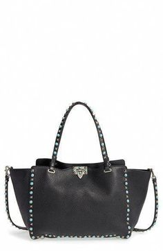611c44ba21 Valentino  Medium Rockstud Rolling  Leather Tote available at