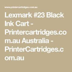 Lexmark #23 Black Ink Cart - Printercartridges.com.au Australia - PrinterCartridges.com.au