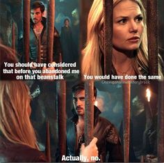 Captain swan best part is he was very serious! The signs were there early on!