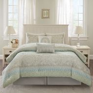 Seaside Serenity Complete Comforter Set - Queen Size