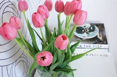 Adorable pink tulips are great for any ocassion. Tulips are available at http://www.flowermuse.com/types-of-flowers/tulips.html