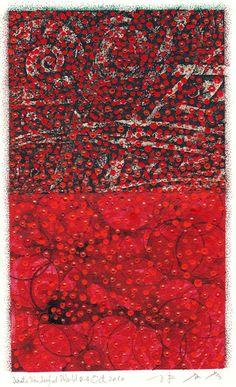 Takahiko Hayashi ~ D-4, 2010 (painting on original etching print)