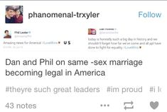 Yes!! They know what's right!! And you know... Phan might be real, so...