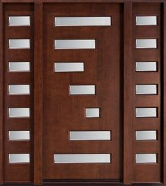 In Stock Modern Mahogany Wood Exterior Doors For Your Home Size W 42 X H 84 Door Entrance 36 80 Include DoorJambsSillDoor Handles A