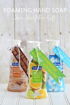 Foaming Hand Soap New Neighbor Gift #FoamSensations #ad