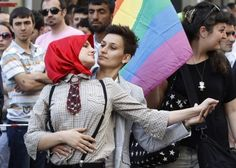 Participants dance during a gay pride parade in Central Istanbul June 26 2011