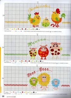 Group of lo schema punto croce Cross Stitch Kitchen, Cross Stitch Love, Cross Stitch Borders, Cross Stitch Animals, Cross Stitching, Cross Stitch Embroidery, Funny Cross Stitch Patterns, Cross Stitch Designs, Easter Cross