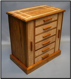Canarywood & Birdseye Maple Jewerly Chest