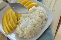 Mango and sticky rice.
