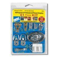 OOK 50900 61 pc Professional Picture Hanging Kit by OOK. $11.80. OOK 50900 61 pc Professional Picture Hanging KitGreat for any hanging purpose.Since its inception in 1964, OOK Picture Hanging Hardware Co. has developed more innovative picture hanging hardware solutions than any other manufacturer in the world. Our original commitment to museums and art galleries in the 1960 s forged an R & D department focusing on creating solutions for unique, high value, hanging ...
