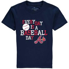Atlanta Braves Soft as a Grape Youth Vintage Baseball Day T-Shirt - Navy - $11.99