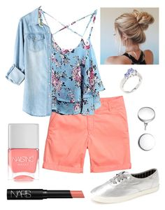 """""""My OOTD"""" by kk-purpleprincess ❤ liked on Polyvore featuring Keds, WithChic, aaRaa, kiz&Co., Nails Inc. and NARS Cosmetics"""