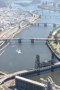 Bridge Town---So nicknamed because Portland sits on two sides of the Willamette River, and over the years eight bridges have been built to enable free traffic movement between the two sides of the river.