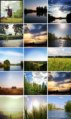 Elämää maalaismaisemissa: Instagram kollaaseja