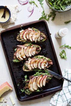 Open-Faced Balsamic Steak Sandwiches