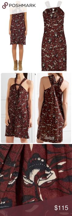 """Isabel Marant Aba Voile Dress in Floral Print New with tags, Etoile Isabel Marant """"Aba"""" voile dress in floral print. Grecian neckline with keyhole front; racerback. Sleeveless; cut-in shoulders. Shift silhouette. Arched hem. Pullover style. Cotton. Size 36. Isabel Marant Dresses"""