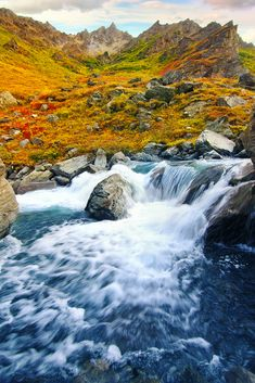 Savage River, Denali, Alaska by Dhilung Kirat    	Via Flickr: 	Savage River near the Savage River Campground in Denali National Park, Alaska.