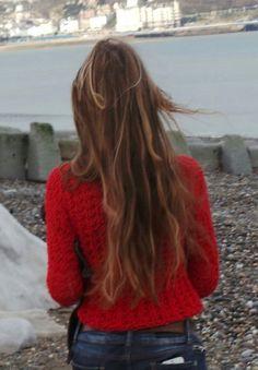 Suéter suéter rojo suéter de cuello rojo de la mujer v por ileaiye