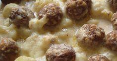 Kartoffel-Blumenkohl Auflauf mit Hackbällchen