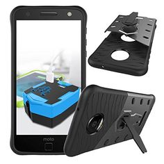 Moto Z Force Case, Moto Z Force Droid Case, ACMBO 360°Rotate Kickstand Heavy Duty Hybrid Dual Layer Silicone Rubber TPU + Hard PC Shockproof Anti-Impact Armor Protective Case Cover, Black #Moto #Force #Case, #Droid #ACMBO #°Rotate #Kickstand #Heavy #Duty #Hybrid #Dual #Layer #Silicone #Rubber #Hard #Shockproof #Anti #Impact #Armor #Protective #Case #Cover, #Black