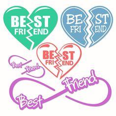 Best Friends Svg Cuttable Designs by CuttableSVG on Etsy