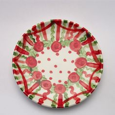 vincentius Plates, Tableware, Design, Red, Green, Dishes, Licence Plates, Dinnerware, Griddles
