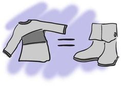 Turn sweater to boots, use cheap pair of flats as base. Look for big sweater at Goodwill.