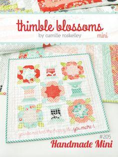 "Handmade Mini pattern #205 19"" x 19"" mini quilt Materials Needed: * 1 Charm Pack…"