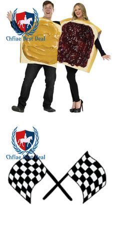 Halloween Costumes Couples: Peanut Butter And Jelly Adult Couple Halloween Costume -> BUY IT NOW ONLY: $57.64 on eBay!