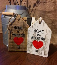 Home is Where The Heart is Wooden Sign / Wooden House Sign / Pallet Wood Sign / Rustic Wooden Sign / farmhouse decor /modern farmhouse decor Rustic Wood Signs Decor Farmhouse Heart Home House Modern Pallet Rustic Sign Wood Wooden Wooden Pallet Projects, Wooden Pallets, Wooden Crafts, Wooden Diy, Diy Projects, Wooden Tags, Pallet Ideas, Home Wooden Signs, Wood Pallet Signs