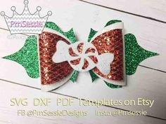 fashion show 2019 Glitter Canvas, Glitter Fabric, Pink Fabric, Bow Template, Templates, Christmas Hair Bows, Merry Christmas, Felt Hair Accessories, Bow Pattern