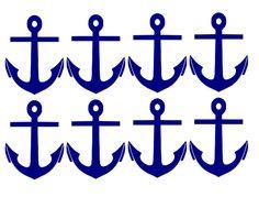 Nautical Anchor Decals You Choose the Colors by TheCraftyVixen, $6.00