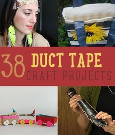 38 Duct Tape Crafts | DIY Duct Tape Ideas #DIYready http://diyready.com/duct-tape-crafts-projects-ideas/