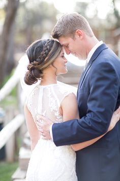 Kaycee and Kevin This beautiful couple was married in Payson, AZ at Kohl's Ranch.  The forecast for the weekend was high chances of rain, with it pouring r