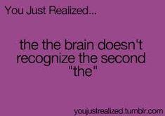 You Just Realized - I recognized it....*awkward silence*