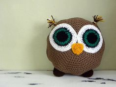 Owl Crochet Pillow Pattern PDF