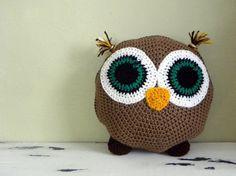 Owl Crochet Pillow Pattern