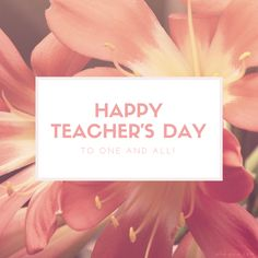 "Happy Teacher's Day!  ""One looks back with appreciation to the brilliant teachers, but with gratitude to those who touched our human feelings. The curriculum is so much necessary raw material, but warmth is the vital element for the growing plant and for the soul of the child.""  ~ Carl Jung  ~ A good teacher inspires hope, ignites our imagination, and instills a love of learning in us ~  #Teachers #TeachersDay"