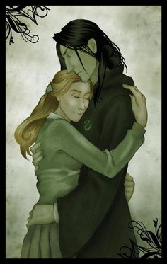 Snape & Lily--stop judging me for looking at HP fan art!