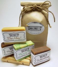 mohchi · High Street Soap: Handmade Soap Sampler for Men #shoplocal #NYC #smallbiz