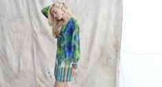 Mason & Belle - Watercolor V-Neck Dress