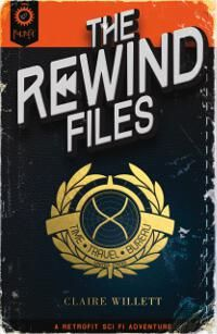 The Rewind Files designed by Eben Matthews   TM: This design has a fascinating type treatment as well as the overall aged look of the design. Making the author name a little more readable would be the only immediate adjustment I would recommend to this well-done design. ★
