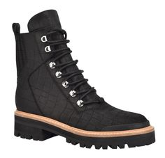 STYLECASTER | Marc Fisher Izzie Winter Boot | Marc Fisher boot | Marc Fisher winter boot | Marc Fisher Isalia boot | cute hiking boots | cute lace-up boots | cute winter boots Warm Winter Boots, Winter Shoes, Winter Coat, Fall Winter, Snow Outfit, Outfit Winter, Moon Boots, Christian Louboutin So Kate, Black Combat Boots