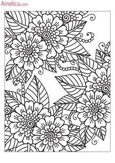Арт - терапия раскраски взрослым скачать бесплатно, картинки антистресс для раскрашивания распечатать: цветы, узоры, люди, абстракция Coloring Pages For Grown Ups, Adult Coloring Book Pages, Printable Adult Coloring Pages, Flower Coloring Pages, Mandala Coloring Pages, Colouring Pages, Coloring Books, Mandalas Drawing, Book Drawing