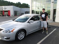Look at the all new 2015 #Nissan #Altima purchased by the Potter Family of Elkhorn City, Ky from Spencer Mitchell. Congratulations and welcome to the Walters Toyota Nissan Family. #WaltersToyota #WaltersNissan