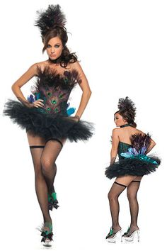 These peacock costumes make great showgirl costumes as well as great Halloween costumes. Get a sexy Peacock costume for any event where you want to stand out. Peacock Halloween Costume, Sexy Halloween Costumes, Halloween Kostüm, Diy Costumes, Costume Ideas, Teen Costumes, Woman Costumes, Couple Costumes, Pirate Costumes