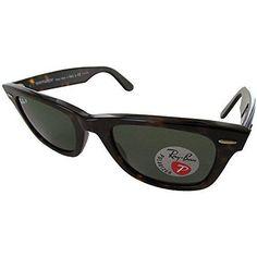 Ray-Ban RB2140 Original Wayfarer Classic Polarized Sunglasses Tortoise frame/Crystal Green 50 mm