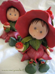 *POLYMER CLAY ~ Flower Fairy by marytempesta, via Flickr