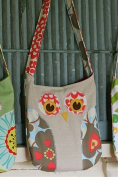 Pattern for an owl bag and owl pillow.